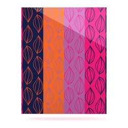 """Kess InHouse - Anneline Sophia """"Tropical Seeds"""" Pink Orange Metal Luxe Panel (16"""" x 20"""") - Our luxe KESS InHouse art panels are the perfect addition to your super fab living room, dining room, bedroom or bathroom. Heck, we have customers that have them in their sunrooms. These items are the art equivalent to flat screens. They offer a bright splash of color in a sleek and elegant way. They are available in square and rectangle sizes. Comes with a shadow mount for an even sleeker finish. By infusing the dyes of the artwork directly onto specially coated metal panels, the artwork is extremely durable and will showcase the exceptional detail. Use them together to make large art installations or showcase them individually. Our KESS InHouse Art Panels will jump off your walls. We can't wait to see what our interior design savvy clients will come up with next."""