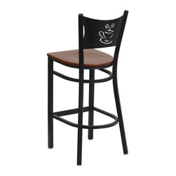 Flash Furniture - Flash Furniture Restaurant Seating Metal Restaurant Chairs - This heavy duty commercial metal bar stool is ideal for Restaurants, Hotels, Bars, Pool Halls, Lounges, and in the Home. The lightweight design of the stool makes it easy to move around. The tubular foot rest not only supports your feet, but acts as an additional reinforcement that helps secure the legs. You will not regret the purchase of this bar stool that is sure to complement any environment to fill the void in your decor. [XU-DG-60114-COF-BAR-CHYW-GG]