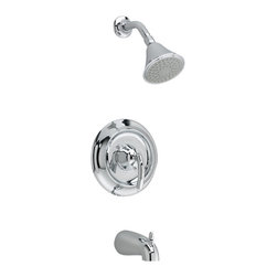 American Standard - Tropic Tub and Shower Faucet with Single Function Showerhead - American Standard T038.502.002 Tropic Tub and Shower Faucet with Single Function Showerhead and Diverter Tub Spout in Chrome.