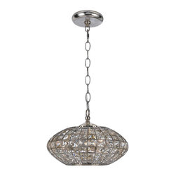 Crystorama - Crystorama Solstice 1 Tier Chandelier in Antique Silver - Shown in picture: Chandelier with Antique Silver finish and hand cut Golden Shadow crystal accents.; Solstice Collection from Crystorama is sleek and modern in design yet pared with Antique Silver finish and hand cut Golden Shadow crystals allows this collection to work with transitional settings of any decor style.