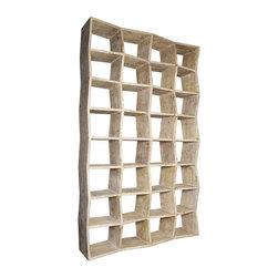 NOIR - NOIR Furniture - Zigzag Bookcase - BCS139OW - Features:
