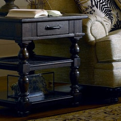 Paula Deen Down Home Rectangle Molasses Wood End Table with Drawer