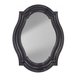 Feiss - Feiss Mirror - MR1208HGB - This Mirror has a Black Finish.