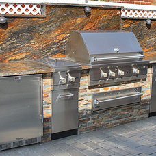 Traditional Outdoor Grills by NYC Fireplaces and Outdoor Kitchens
