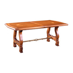 French Heritage - Harvest Trestle Dining Table - Provence never gets old. Fortunately, you can revisit it often with this French-country-inspired trestle dining table. And while you may not be able to capture Provence of the past, you can pay it forward with this piece — an heirloom in the making.