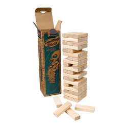Stack, Pull, & Tumble Blocks Game - Made from FSC wood, these blocks can provide hours of fun for you and a friend or for the entire family. This game comes ready to play and requires concentration, a steady hand, and determination.