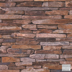 Wood Stone 8-9142-17 Woven Wallpaper - This wallpaper looks like Minecraft bricks brought to life! I would use this as an accent wall, and paint the rest the lovely shade of Minecraft green.