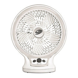 "Jarden Home Environment - Bionaire 9"" Table Fan Oscillate - You don't need to live with stale winter air or stuffy summer air. Tote this nine-inch table fan to the office or put it in your home office, den, bedroom or study. Keep the air moving and your temperature down."