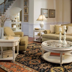ART Furniture - Provenance Round Occasional Table Set - ART-176302-ROOM - Set Includes Cocktail and Lamp Table