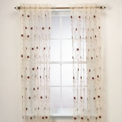 Home Fashions International, Inc. - Astor Gold Window Panel - This unlined, sheer window panel has a vibrant solid floral pattern that gives your decor a fresh look while still letting in natural sunlight. 50% polyester/50% nylon.