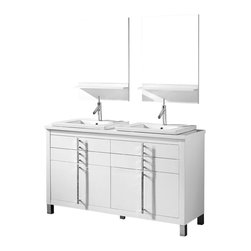 Adornus - Adornus TURIN-60-HGW-C High Gloss White Vanity - * Free standing all wood vanity