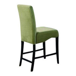 """Coaster - (Set Of 2) Counter Height Chair (Green) By Coaster - Counter Height Chair Green set of 2, By Coaster.Dimensions: 18-3/4""""l x 22""""w x 41-3/4""""h x 17""""d 24"""" to the seat"""