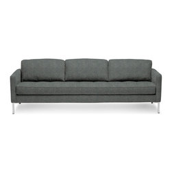 Blu Dot - Blu Dot Paramount Sofa, Ceramic - As comfortable as your favorite jeans. As versatile as a little black dress. This classic sofa can go anywhere in style but don't be surprised if it steals the limelight in its own quiet way. Available in ash, ceramic, graphite, lead, oatmeal, pebble, smoke or stone.