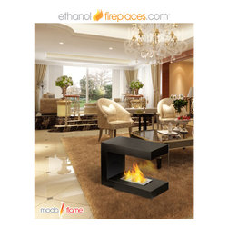 Free Standing Ethanol Fireplaces - Moda Flame Coria Free Standing Floor Indoor Outdoor Ethanol Fireplace