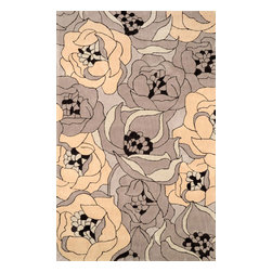 nuLOOM - Contemporary Country & Floral 5' x 8' Cream Hand Tufted Area Rug Floral ACR217 - Made from the finest materials in the world and with the uttermost care, our rugs are a great addition to your home.