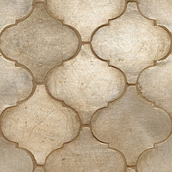 Contessa Tile, Arabesco Silver Leaf Field - This silver-leafed tile would be the perfect statement in a kitchen or bath. It adds drama and luxury to the home, along with a hint of rustic tradition.