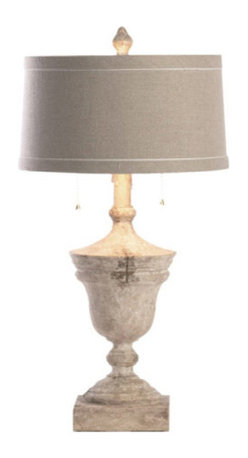 Aidan Gray - Namur Fragment Lamps Set of 2 - Bring an aura of gently faded elegance to your favorite traditional setting. These urn-shaped lamps (sold as a set of two) recall the grace and charm of the French château era with the wood's aged patina and a soft linen shade.