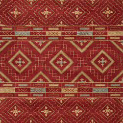 """Momeni - Momeni Habitat HB-10 (Red) 2'3"""" x 8' Rug - Habitat features a globally inspired blend of influences, from Ikat, Uzbek Suzani and indigenous craftsman styles. Hand-tufted by expert artisans that encompasses an organic texture and feel. Made of 100% wool fiber, featuring a hard twist construction, this exquisite collection embraces a fashion-forward color palette exhibiting ethnic and nomadic motifs."""