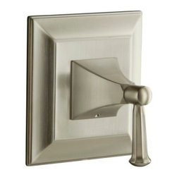 KOHLER - KOHLER Memoirs Thermostatic Valve Trim with Stately Design and Handle - KOHLER K-T10421-4S-BN Memoirs Thermostatic Valve Trim with Stately Design and Faceted Lever Handle in Brushed Nickel