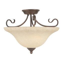 Livex Lighting - Livex Lighting 6130 Coronado 3 Light Semi-Flush Ceiling Fixture - Features: