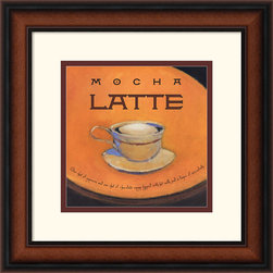 Amanti Art - Mocha Latte Framed Print by Jillian David Design - Sweeten your decor with a stylized, steaming cup of Mocha Latte from Jillian David Design. Terrific for the kitchen, bistro or study, this tantalizing decor piece is a must-have for latte lovers!