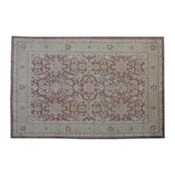 1800-Get-A-Rug - Peshawar Oriental Rug Hand Knotted Rug Stone Wash Sh9105 - About Oushak and Ziegler Mahal