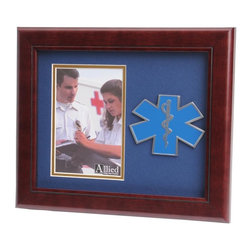 EMS Portrait Picture Frame - 10-Inch by 12-Inch First Responder Portrait Picture Frame