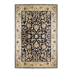 "Frontgate - Gentry EZ Care Rug - Hand-hooked pile. 1/4""-thick low profile design. 80-100 line weave. Poly-acrylic fibers resist mold, mildew, stains, and spills. Created for high-traffic areas. Made by Safavieh, the Gentry EZ Care Rug boast the rich look of other classic rugs, yet is easy to care for. The right rug can bring a touch of warmth or elegance to high-traffic areas like entryways, playrooms, kitchens, and laundry rooms.  .  .  .  .  . Drainable, porous backing . Clean with mild soap and water. Imported. Rug design may vary by size."
