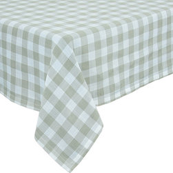 Xia Home Fashions - Gingham Check Tablecloth, 65In By 108In Natural - This timeless pattern has been an essential part of gatherings of family and friends for generations. Available in classic red as well as blue, yellow, green and natural, you are sure to find the perfect color for any occasion.