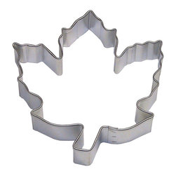 RM - Leaf, Sugar Maple 3.5 In. B1295X - Leaf, Sugar Maple cookie cutter, made of sturdy tin, Size 3.5 in., Depth 7/8 in., Color silver