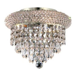 Elegant Lighting - Elegant Lighting 1802F10C Primo 3-Light, Single-Tier Flush Mount Crystal Chandel - Elegant Lighting 1802F10C Primo 3-Light, Single-Tier Flush Mount Crystal Chandelier, Finished in Chrome with Clear CrystalsElegant Lighting 1802F10C Features:
