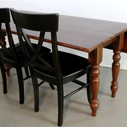 Brown Cherry Drop Leaf Table From Reclaimed Wood - Made by www.ecustomfinishes.com
