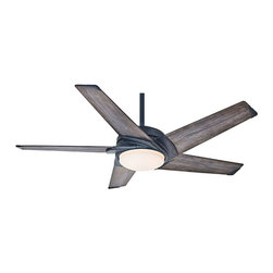 "Casablanca - LED Casablanca 59093 Stealth Aged Steel Energy Star 54"" Ceiling Fan - Features Energy Star Rated + LED Light"