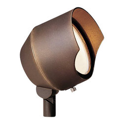 LANDSCAPE - LANDSCAPE MR-16 Accent Outdoor Spotlight X-RBB18351 - This Kichler Lighting outdoor accent spot light features a lip to reduce glare from the heat resistant flat lens. The die cast aluminum house is finished in a Bronzed Brass, allowing it to seamlessly blend into the surrounding landscaping.