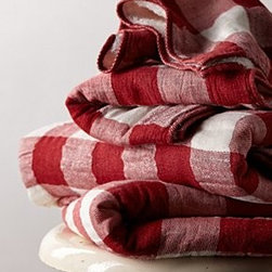 Morihata - Gingham Check Towel - *By Morihata