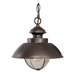 "Vaxcel - Vaxcel OD21506BBZ Harwich 10"" Outdoor Pendant Burnished Bronze - Vaxcel OD21506BBZ Harwich 10"" Outdoor Pendant Burnished Bronze"