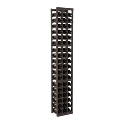 Wine Racks America - 3 Column Standard Wine Cellar Kit in Pine, Black + Satin Finish - Each wine cellar rack meets Wine Racks America's unparalleled fabrication standards. Modular engineering provides universal kit compatibility which enables connoisseurs to mix and match wine rack kits until you achieve a personally-defined wine bottle storage system.
