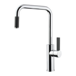 Maestrobath - LUZ Brushed Nickel PullOut Mono Shower Faucet - This modern single handle kitchen faucet with pull out mono shower gives any kitchen an elegant look. The high end Italian faucet can accommodate any type of kitchen sink. The contemporary faucet is easy to install, keep clean and maintain. Modern brushed nickel faucet is also available in chrome finish. Whether your decorating style is traditional or modern, Maestrobath products will compliment your home improvement project and add a lavish, luxurious feel while protecting your health, safety and the environment. Please note the item picture belongs to a Chrome finish. Here is more information related to MaestroBath: Services Provided: Luxury Handmade Italian Vessel Sinks, Modern and Contemporary Kitchen and Bath Fixtures. Business Description: Maestrobath delivers contemporary and modern handmade Italian bathroom sinks and designer faucets to clients with taste of luxury. It carries a wide selection of beautiful and unique Travertine, Crystal and Glass vessel sinks in variety of colors and styles. Maestrobath services homeowners and designers globally.