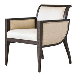 Ambella Home - New Ambella Home Chair Faux Ivory Walnut Raw - Product Details