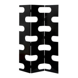 "Benzara - Room Dividers Wood 3 Panel Screen 72""H, 48""W - Size: 48 Wide x 1 Depth x 72 High (Inches); Material: Quality wood, Varnished to make it long lasting; Color: Black; Attractive; Long lasting; Rust free hinges; Extra width; Not just a divider screen but room decor too"