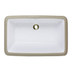 "MR Direct - Rectangular Bathroom Sink - The U1812-White rectangular porcelain undermount sink is made from true vitreous China which is triple glazed and triple fired to ensure your sink is durable and strong. Undermounting a bathroom sink creates a sleek look and allows for more space on your countertop. The overall dimensions for the U1812-white are  and requires a 24"" minimum cabinet size. Pop-up drains in a variety of finishes are available with this sink model. As always, our porcelain sinks are covered under a limited lifetime warranty for as long as you own the sink."
