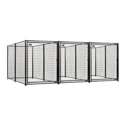 Jewett-Cameron Companies - AKC Pro Breeder Kennel with a Common Wall, 3 Run - 5'W x 10'L x 6'H - The AKC Welded Wire Kennel delivers the highest quality, performance, and appeal compared to other leading dog kennels. You get access to the highest quality kennels, and your pets get a comfortable and safe environment.