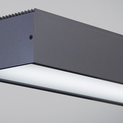 Tech Lighting - Knox LED Linear Suspension - Strong lines. Industrial simplicity. This LED suspension fixture performs as it must with such a simple y et handsome design and lets the light its elf take center stage. Equally at home over a kitchen island or dining room table as it is in a professional setting over a conference table, lighting a desk spac e or welcoming guests.