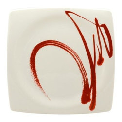 Red Vanilla Paint It Red 10.5 in. Square Dinner Plate - Set of 4 - Even a treat as quick and easy as a Hot Pocket becomes a dish with flair and complexity when it's served on the Red Vanilla Paint It Red 10.5 in. Square Dinner Plate - Set of 4. This stunning, contemporary plate is crafted from high-quality porcelain that's finished with a simple but audaciously painted detail in the center. Each plate is safe for use in the microwave or dishwasher, making it ideal for everyday use or just for special occasions.About Red VanillaFor a great night out or a quiet night in, Red Vanilla will be there. Offering a high-fashion way to enjoy dinner with friends, music on the green, or just lunch at your desk, Red Vanilla offers pieces that are as unexpected as they are varied. Brian Blake established Red Vanilla in 2004 with two overarching ideas: Red Vanilla needed to embody a lifestyle of entertainment, enjoyment, and design, and Red Vanilla needed to define itself by finding ideal products of the highest quality. Everything they make centers on the cutting edge of design while driving the industry forward with an inspired perspective.