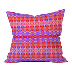 DENY Designs - DENY Designs Amy Sia Watercolor Ikat 3 Throw Pillow - Throw pillows aren't just for grandma's house anymore. Liven up, accent, and complete any room in your home with the DENY Designs Amy Sia Watercolor Ikat 3 Throw Pillow. Each throw pillow is 100% custom printed after it has been ordered, to create a one-of-a-kind product. The innovative process includes using a six color dye printing technique that directly dyes the fabric fibers instead of a direct printing method. Colors stay as fresh and vivid as day one for fade-resistent products from this customer-focused company. The innovate ikat pattern will add a splash of liveliness and fun to any style. DENY Designs works with artists all over the world to create original statement pieces - each artist receives part of sales proceedsDo not wash; use a spot treatment with  mild detergentFade resistentUnique, custom-made for each and every customer