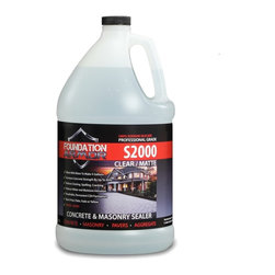 Foundation Armor - S2000 Concentrated Sodium Silicate Concrete Sealer, Densifier, Hardener, Clear - Armor S2000 is a concentrated sodium silicate concrete floor densifier, hardener, and sealer. It chemically reacts with the free lime and calcium in the concrete to form Calcium Silicate Hydrate (CSH) within the pores. It is designed to penetrate and protect the surface by reducing porosity and dusting, and improve abrasion resistance and hardness.