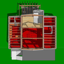 Modern Floor Plan by Heirloom Timber Framing