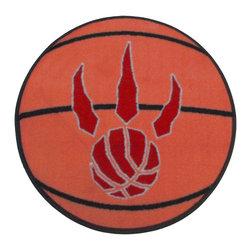 Fanmats - NBA Toronto Raptors Rug Basketball Shaped Mat - FEATURES: