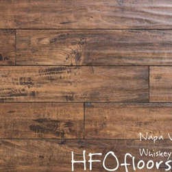 Linco Napa Valley - Napa Valley Whiskey Barrel 12mm distressed laminate. Available at HFOfloors.com.