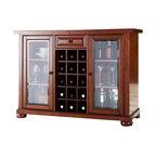 Crosley Furniture - Crosley Alexandria Sliding Top Bar Cabinet in Classic Cherry - Crosley Furniture - Home Bars - KF40002ACH